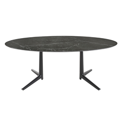 KARTELL table MULTIPLO XL with oval top