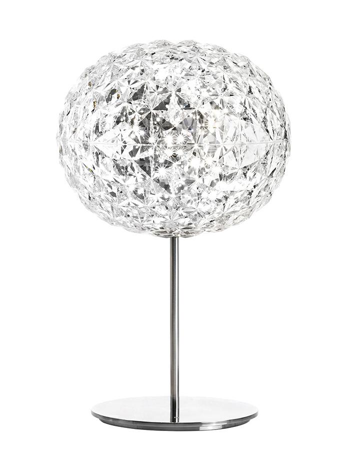 KARTELL lampada da tavolo PLANET a LED H 53 cm (Cristallo ...