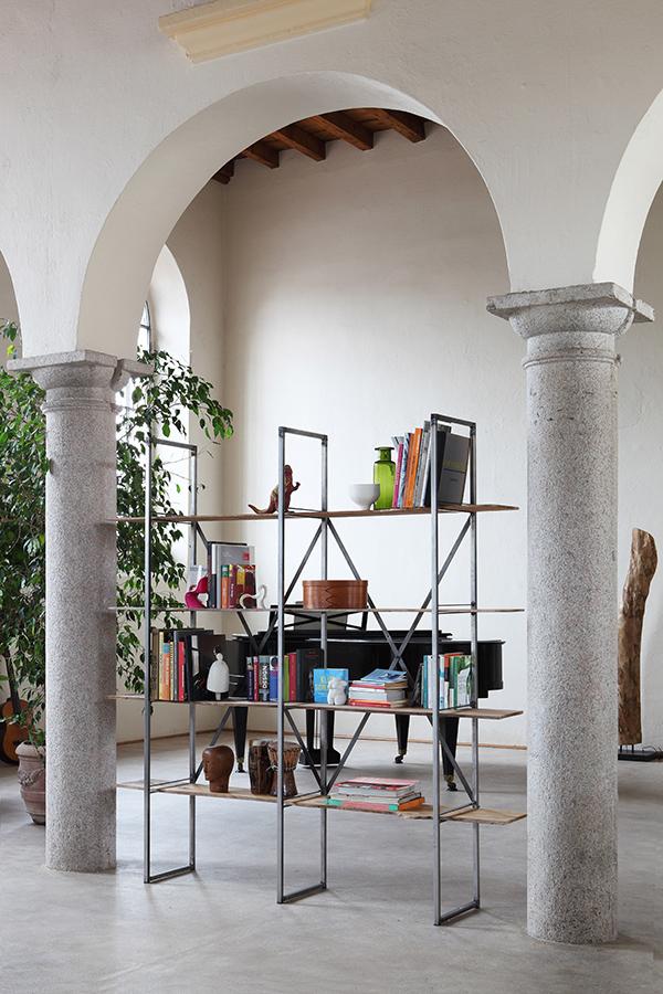 zeus libreria autoportante slim irony bookcase. Black Bedroom Furniture Sets. Home Design Ideas