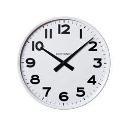 KRIPTONITE wall clock CLASSICO WHITE VERSION