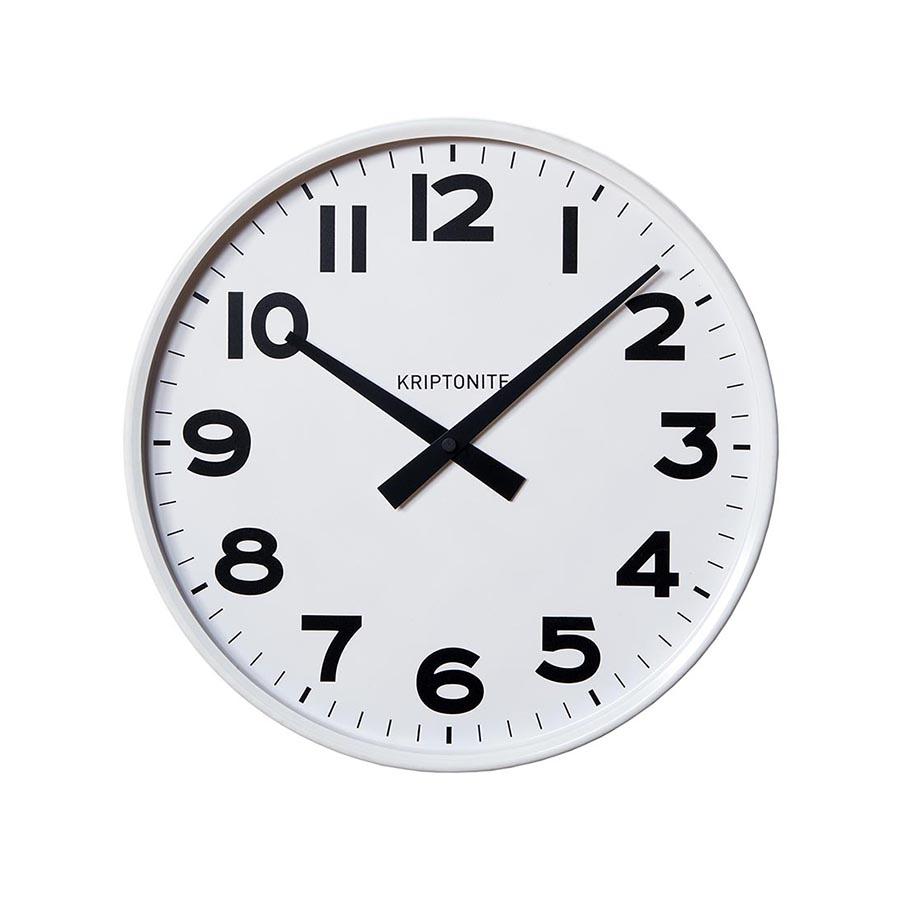 Kriptonite orologio da parete classico bianco 25 cm for Orologio da parete radiocontrollato