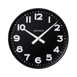 KRIPTONITE wall clock CLASSICO BLACK VERSION