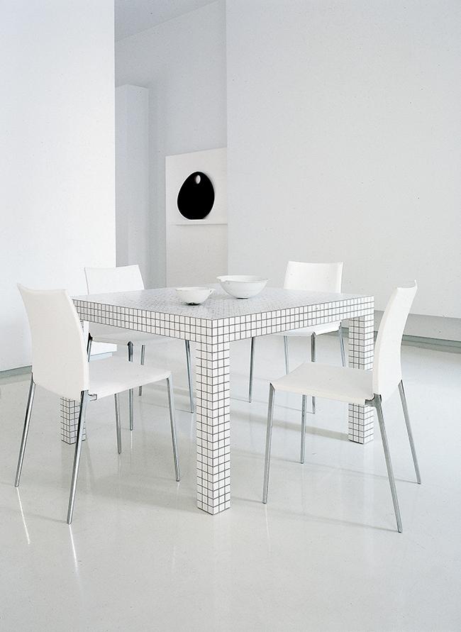 Zanotta tavolo quadrato quaderna 111 x 111 cm laminato for Superstudio arredamento