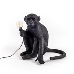 SELETTI table LED lamp MONKEY LAMP BLACK EDITION