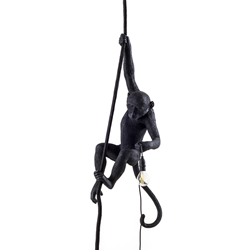 SELETTI suspension LED lamp MONKEY LAMP BLACK EDITION