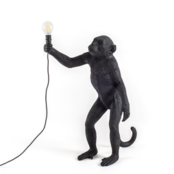 SELETTI floor LED lamp MONKEY LAMP BLACK EDITION