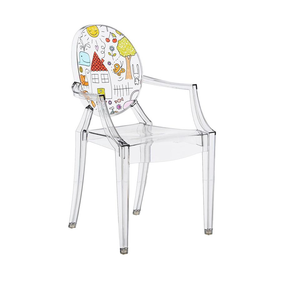 KARTELL KIDS sedia per bambini LOU LOU GHOST (Trasparente / Disegno -  Policarbonato trasparente)