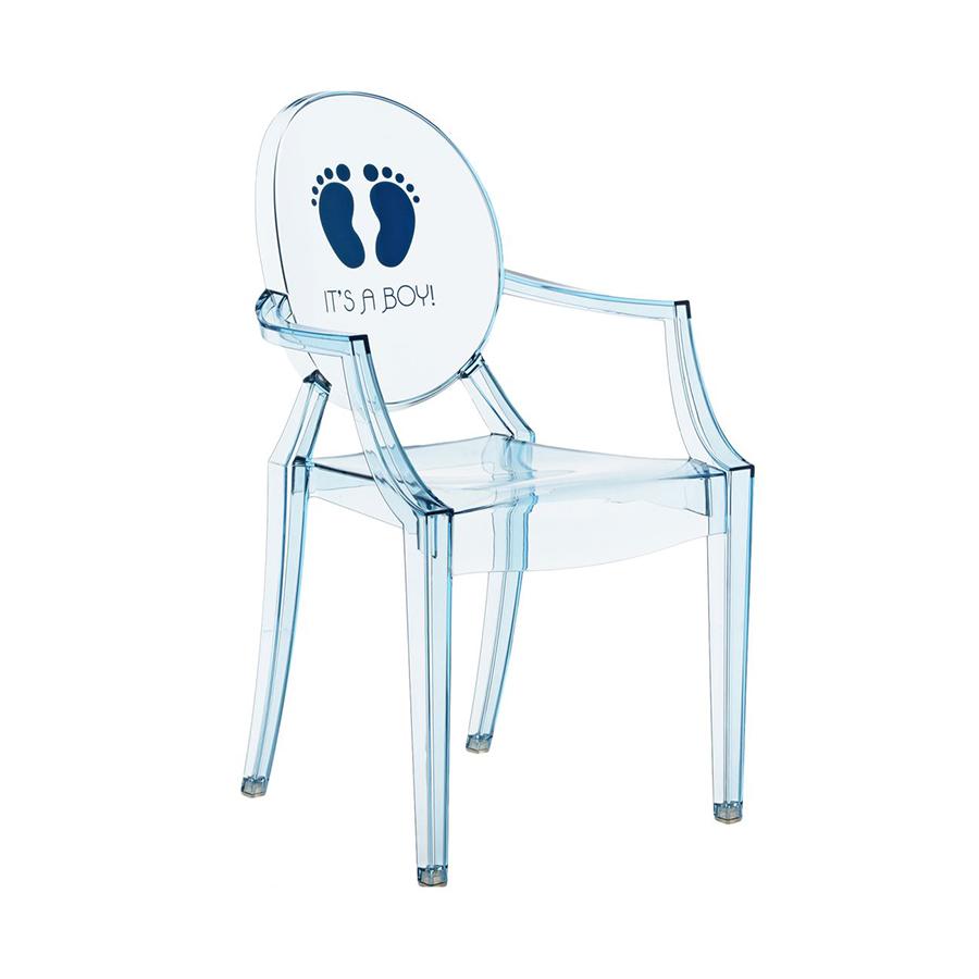 Kartell kids sedia per bambini lou lou ghost azzurro it for Sedia ufficio kartell