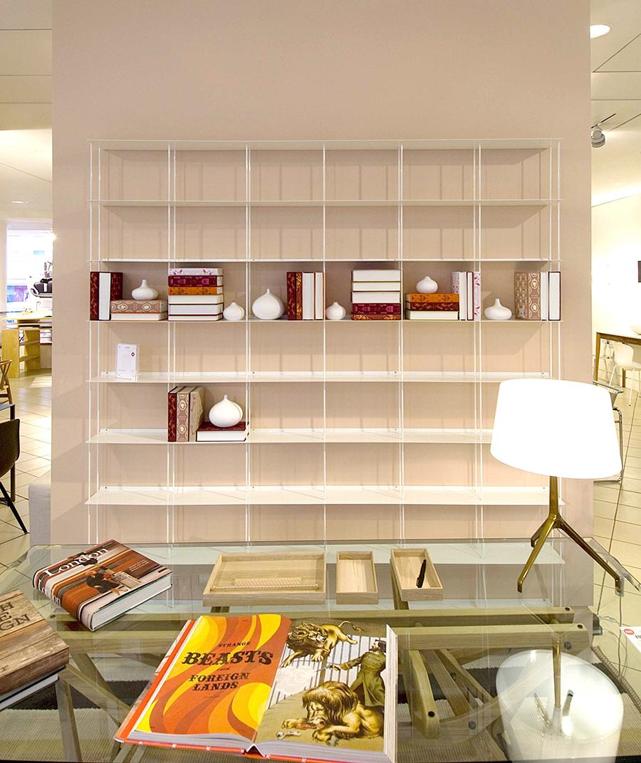 kriptonite libreria da parete krossing 200 x h 200 cm. Black Bedroom Furniture Sets. Home Design Ideas