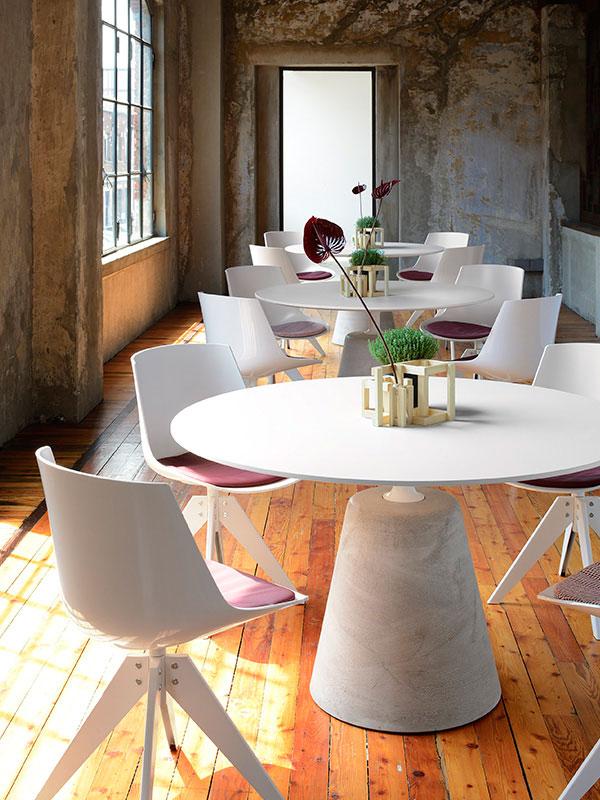 Tavolo Tondo 100 Cm.Mdf Italia Tavolo Rotondo Rock Table O 120 Cm Piano In Legno