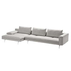 ZANOTTA sofa with lengthened armchair BRUCE