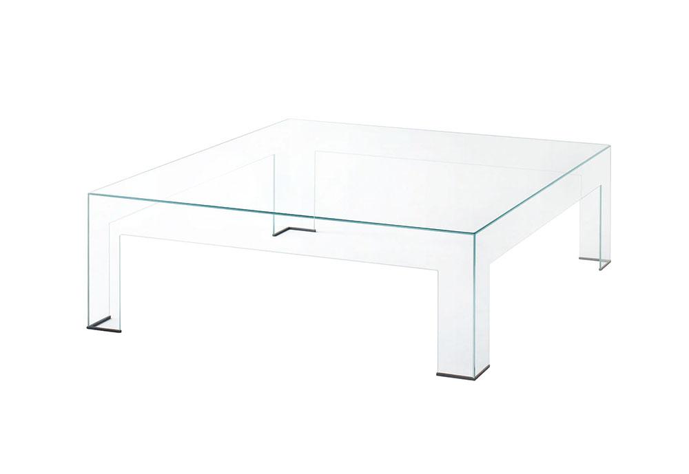 Tavolino Basso Cristallo.Glas Italia Tavolino Basso Atlantis 80 X 80 X H 36 Cm Cristallo Trasparente Extralight
