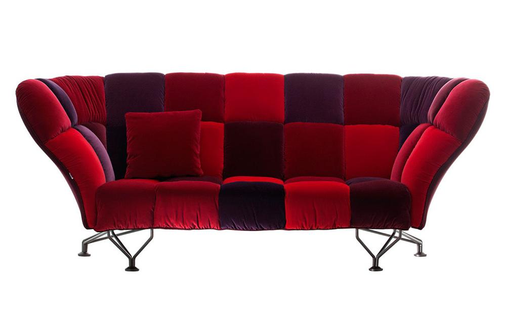 Divano Rosso Cuscini : Driade divano cuscini rosso velluto loira myareadesign