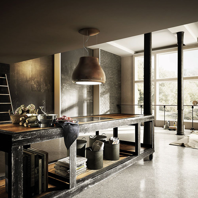 elica cappa a sospensione da parete shining. Black Bedroom Furniture Sets. Home Design Ideas
