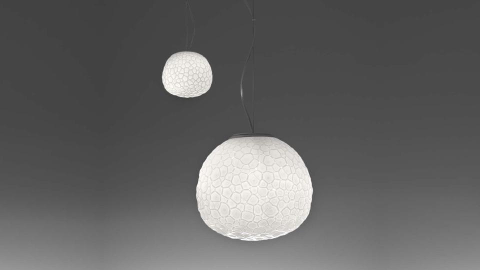 Lampade In Vetro Soffiato : Artemide lampada a sospensione meteorite Ø cm vetro