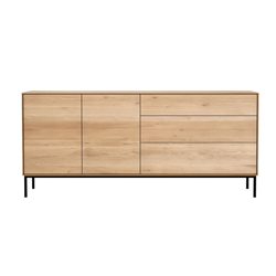 ETHNICRAFT furniture sideboard WHITEBIRD with 2 doors and 3 drawers