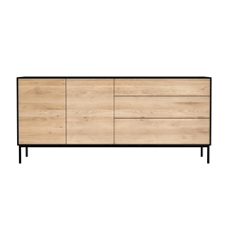 ETHNICRAFT furniture sideboard BLACKBIRD with 2 doors and 3 drawers