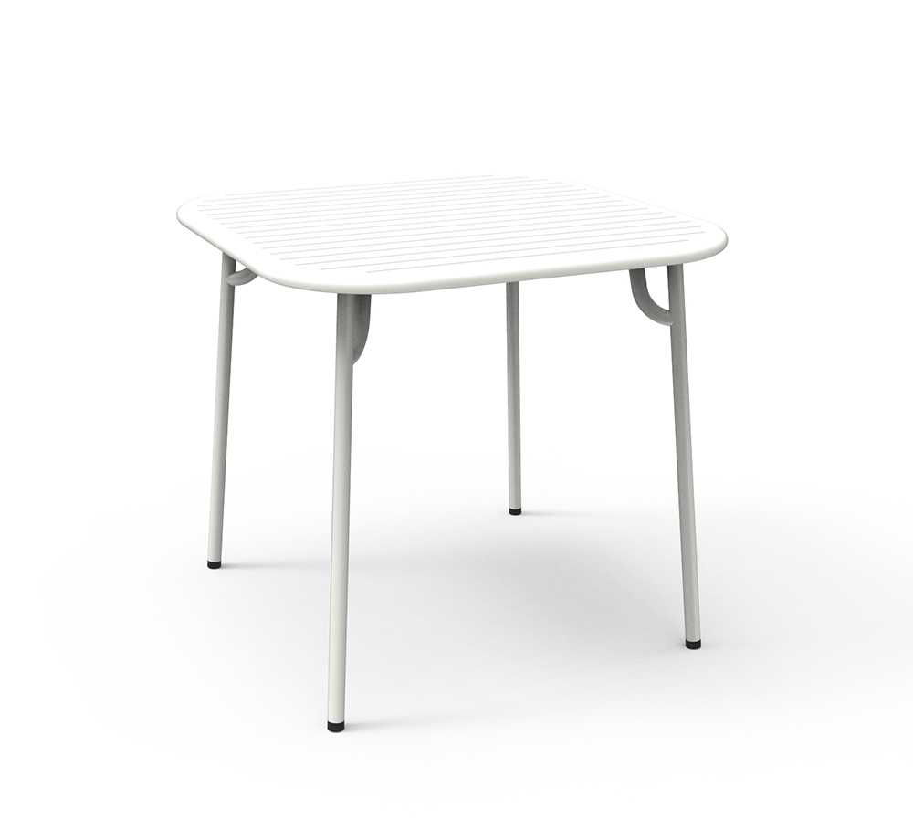 Petite friture table carr e pour l 39 ext rieur week end for Table exterieur 3 metres