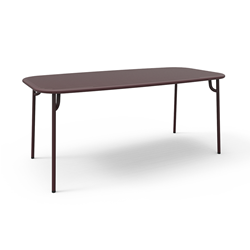 PETITE FRITURE outdoor rectangular table WEEK-END 180x85 cm