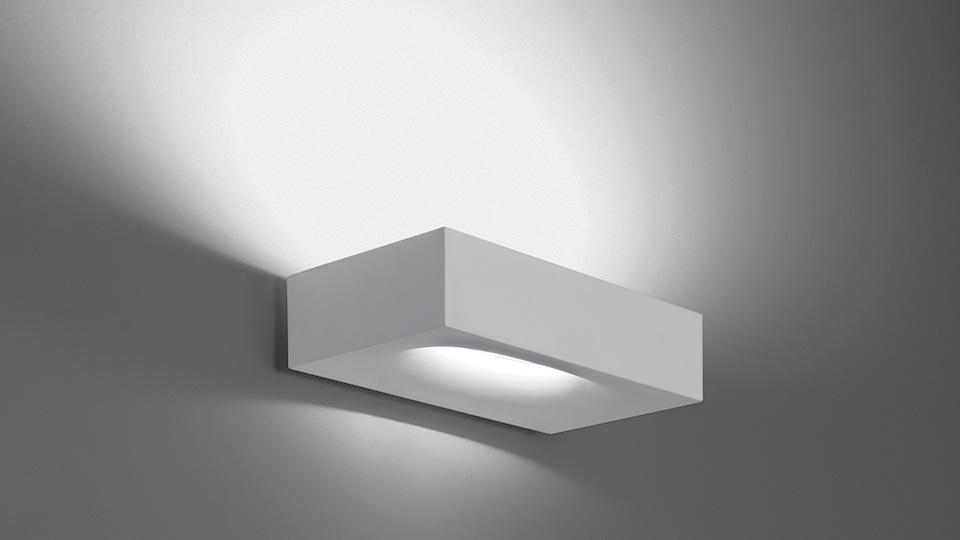 Artemide lampada da parete melete halo led alluminio