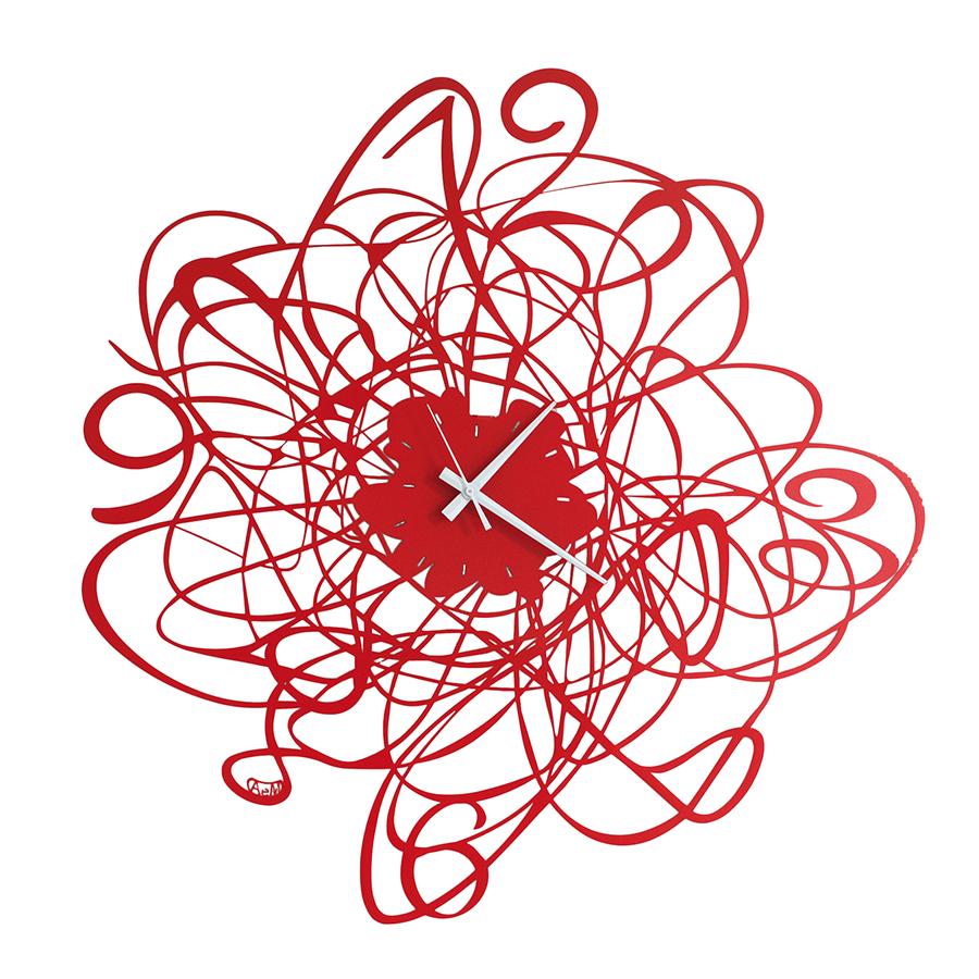 Arti e mestieri wall clock doodle for Foto orologio da parete