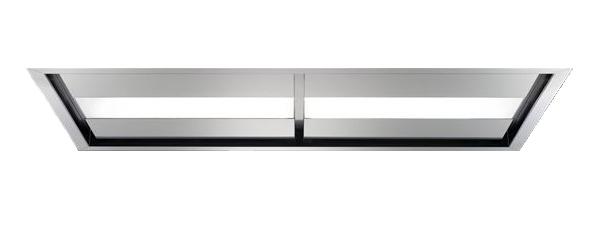 falmec hotte au plafond nuvola 140 acier inox bross avec moteur sous combles ebay. Black Bedroom Furniture Sets. Home Design Ideas