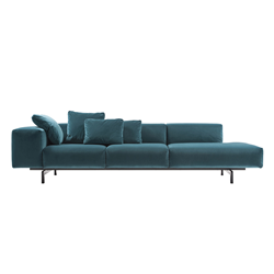 KARTELL sofa to right 3 places LARGO VELLUTO