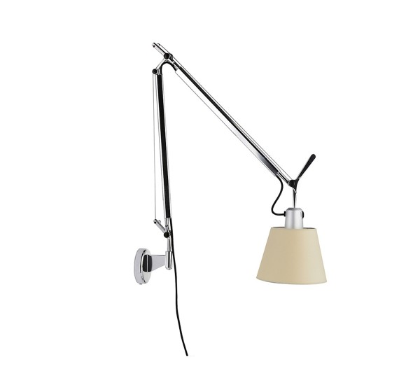 artemide lampe murale tolomeo basculante diffuseur en satin 180 mm aluminium. Black Bedroom Furniture Sets. Home Design Ideas