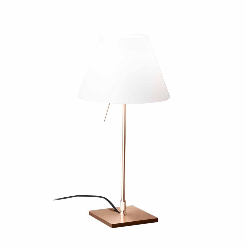 Lampada Da Scrivania In Ottone.Luceplan Lampada Da Tavolo Costanzina Brass D13 Pi C Led Bianco Ottone E Policarbonato