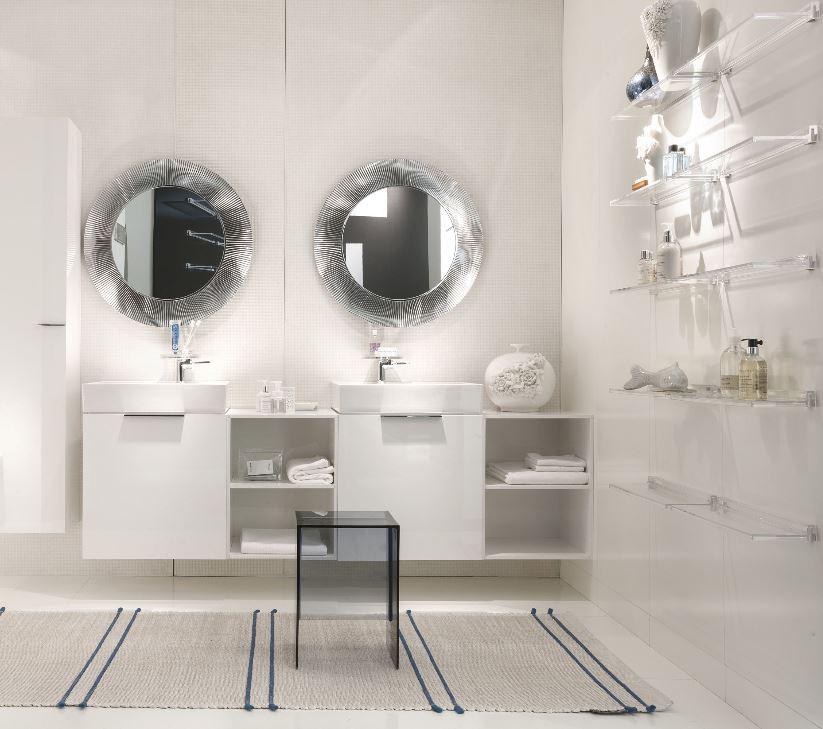 KARTELL specchio da parete ALL SAINTS (Rosa nude - PMMA