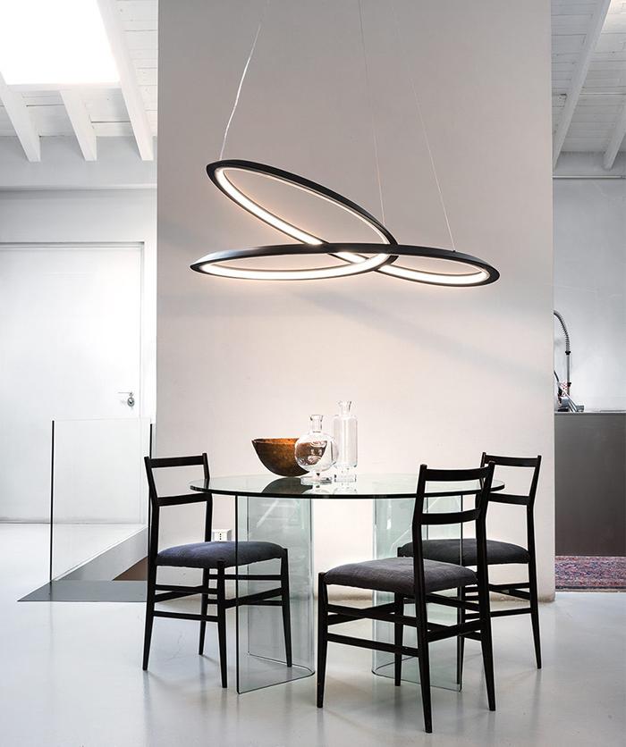 nemo suspension lamp kepler uplight white varnished aluminum. Black Bedroom Furniture Sets. Home Design Ideas