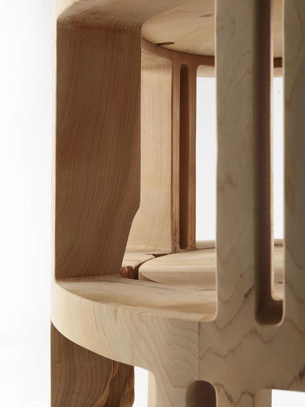 riva 1920 libreria autoportante girevole torre lignea cedro legno massello. Black Bedroom Furniture Sets. Home Design Ideas
