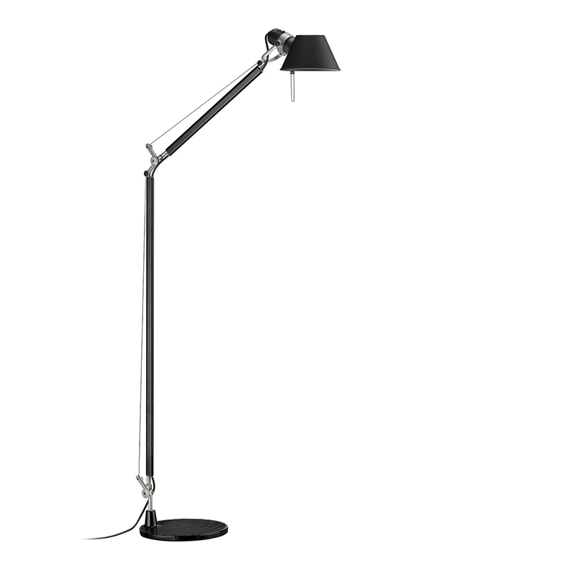 Artemide Lamp Tolomeo Reading Floor Black Aluminium