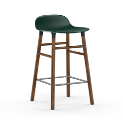NORMANN COPENHAGEN stool FORM BARSTOOL H 65 cm with walnut base