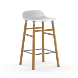 NORMANN COPENHAGEN stool FORM BARSTOOL H 65 cm with oak base