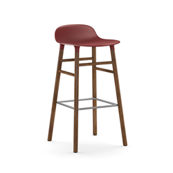 NORMANN COPENHAGEN stool FORM BARSTOOL H 75 cm with walnut base
