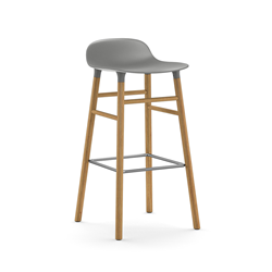 NORMANN COPENHAGEN stool FORM BARSTOOL H 75 cm with oak base