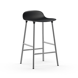 NORMANN COPENHAGEN stool FORM BARSTOOL H 65 cm with chromed base