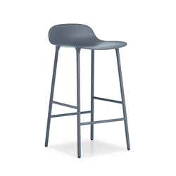 NORMANN COPENHAGEN stool FORM BARSTOOL H 65 cm with lacquered steel base