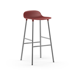 NORMANN COPENHAGEN stool FORM BARSTOOL H 75 cm with chromed base