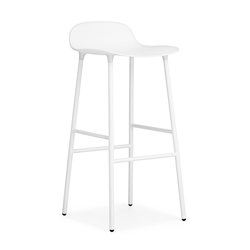 NORMANN COPENHAGEN stool FORM BARSTOOL H 75 cm with lacquered steel base