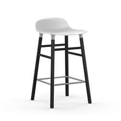 NORMANN COPENHAGEN stool FORM BARSTOOL H 65 cm with black wood base