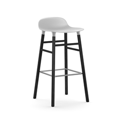 NORMANN COPENHAGEN stool FORM BARSTOOL H 75 cm with black wood base