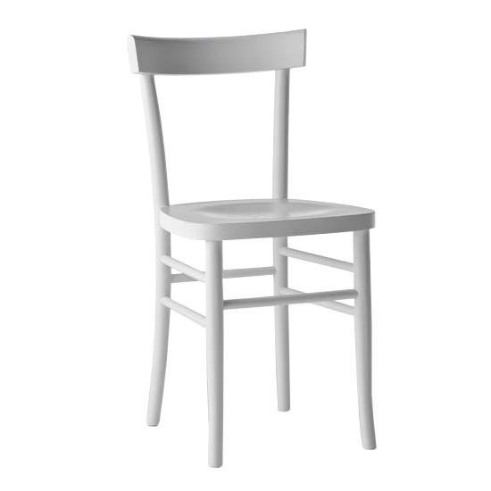 Sedie In Legno Laccate Bianco.Horm Set Da 2 Sedie Cherish Laccato Bianco Opaco Legno Massello