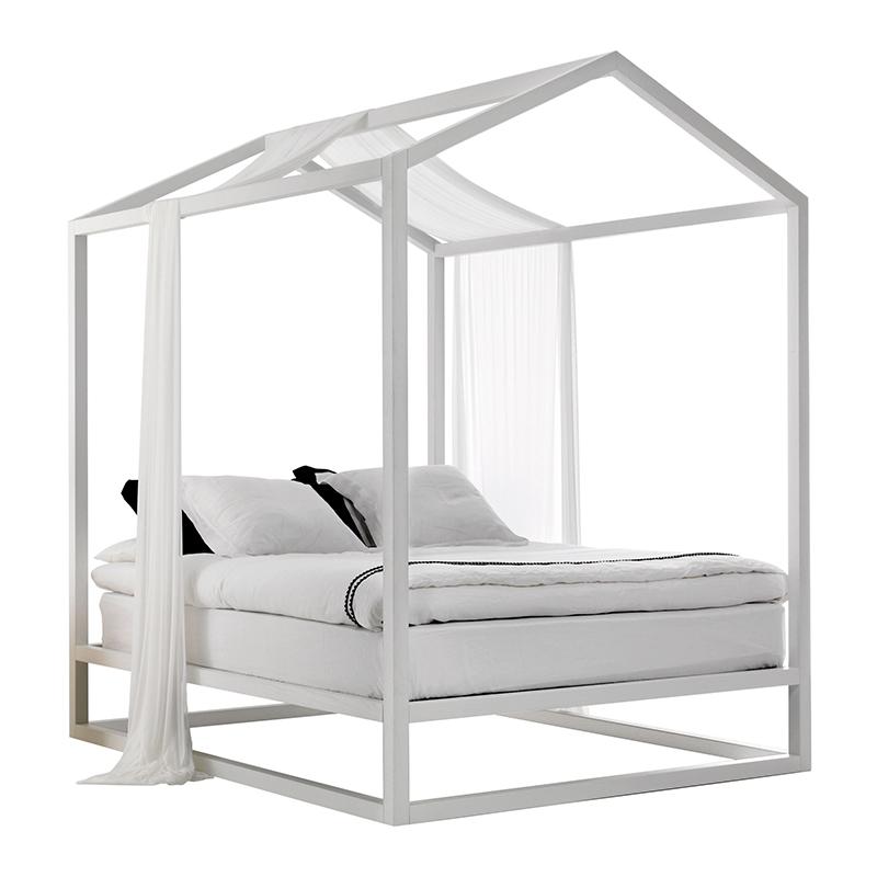 Mogg letto a baldacchino casetta in canad bianco legno di frassino legno di faggio - Letto a baldacchino bianco ...