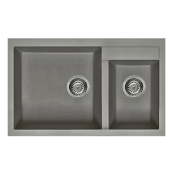 ELLECI sink with 2 bowls QUADRA 440