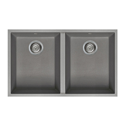 ELLECI sink with 2 bowls QUADRA 340 UNDERMOUNT