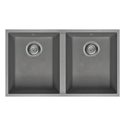 ELLECI sink with 2 bowls QUADRA 350 UNDERMOUNT