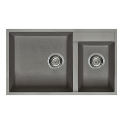 ELLECI sink with 2 bowls QUADRA 440 UNDERMOUNT