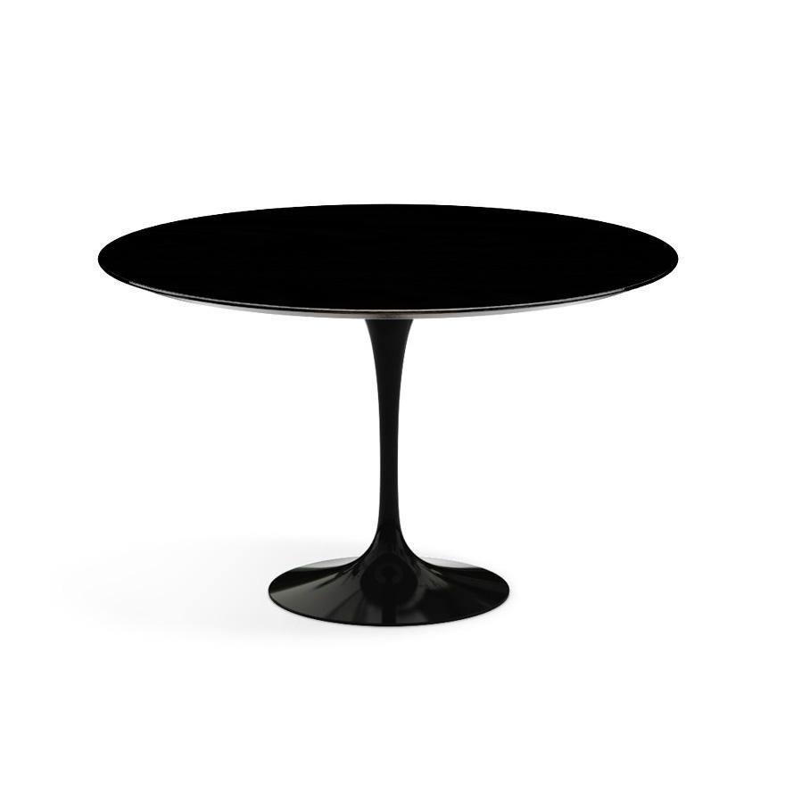 Knoll tavolo rotondo tulip 120 cm collezione eero saarinen nero con base nera laminato - Tavolo knoll prezzo ...